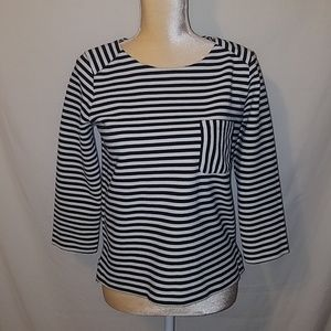 Madewell black and white stripped Medium top